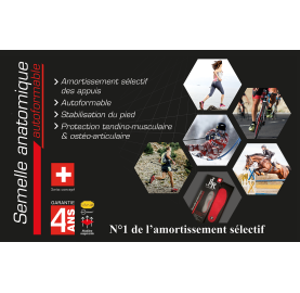 Semelle autoformable JLR Swiss Made pour homme semelle marche protection articulations et tendons