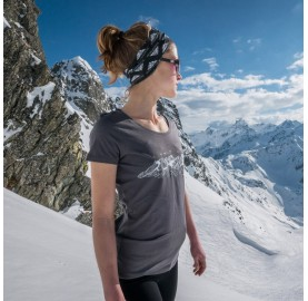 MASHERBRUM T-Shirt Femme MASSIF DES ECRINS