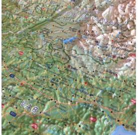 Carte en Relief Les Alpes françaises 3DMAP