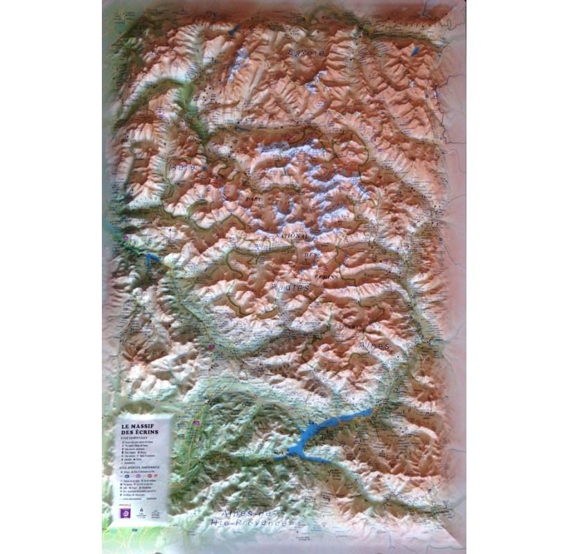 Carte en Relief MASSIF DES ECRINS 3DMAP