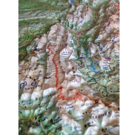 Carte en Relief de L'ISERE 3DMAP