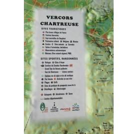 Carte en Relief VERCORS/CHARTREUSE 3DMAP