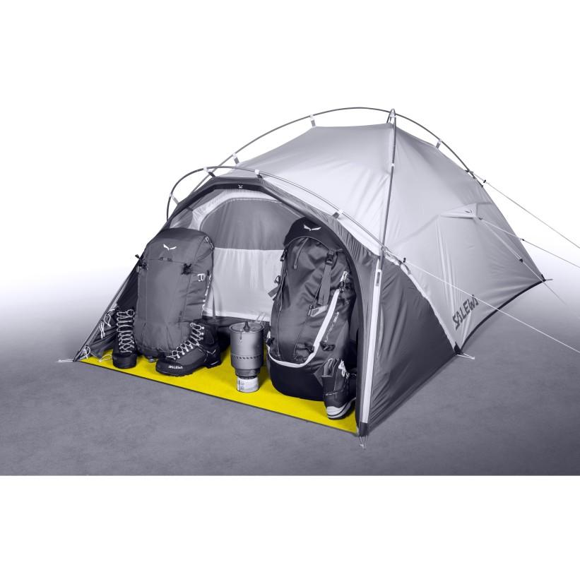Tente 2 places 3 saisons stable confort compact LITETREK 2 SALEWA abside