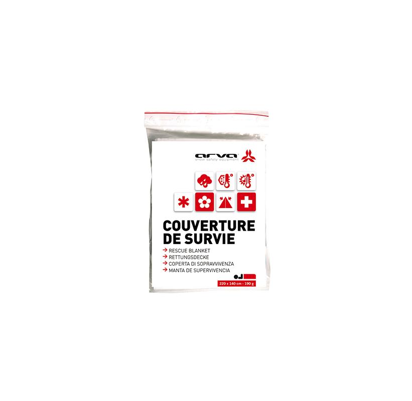 COUVERTURE DE SURVIE argent 190 grammes ARVA