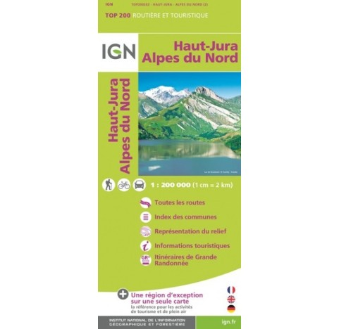 HAUT-JURA ALPES DU NORD IGN TOP 200