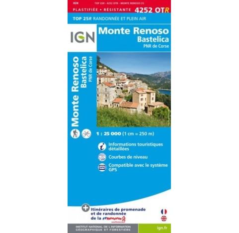 4252 OTR MONTE RENOSCO BASTELICA PNR DE CORSE IGN TOP 25