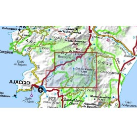 Carte Corse IGN 4252OTR MONTE RENOSO BASTELICA