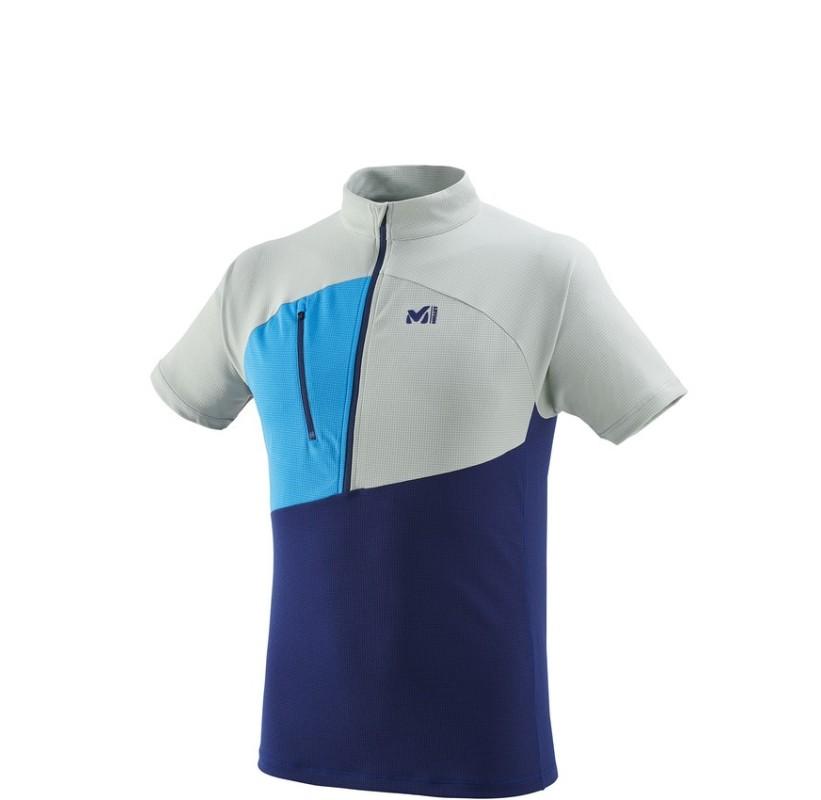 MILLET tee-shirt rando polartec ELEVATION ZIP SS