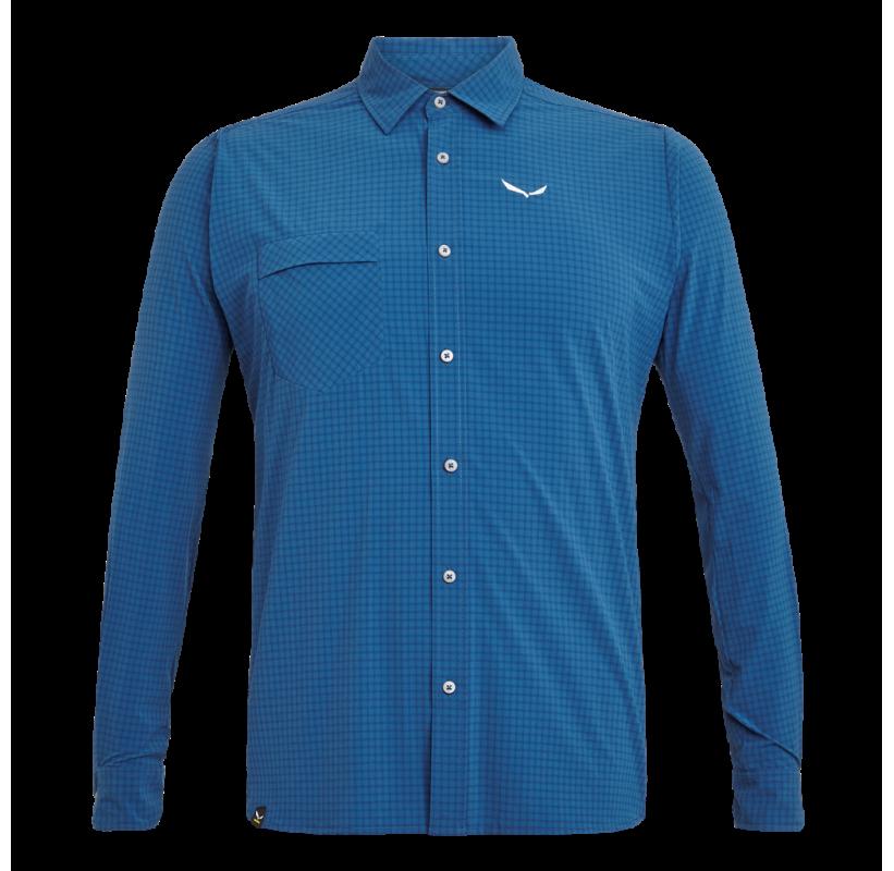 SALEWA chemise manche longue rando PUEZ MINI CHECK DRY M L/S sechage rapide anit odeur