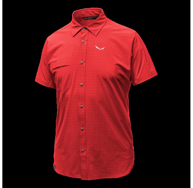 PUEZ MINI CHECK DRY M S/S SALEWA chemise manche courte respirante sport