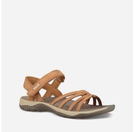 ELZADA SANDAL LEATHER TEVA sandale randonnée femme cuir semelle SPIDER sentier et eau