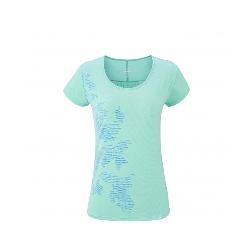 EIDER tshirt rando féminin FLEX TEE W leger souple respirant - Green fizz