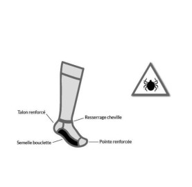 Chaussettes Anti-tiques LABONAL made in France - respirante solide
