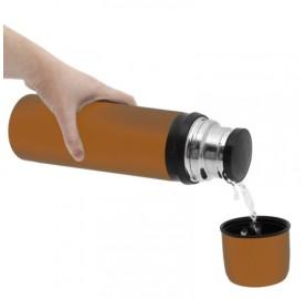 Thermo avec cup 12 heures de chaud et 24 heures de froid Bouteille Isotherme 750 ml avec verre