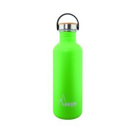 LAKEN GOURDE INOX 1 litre vert- Bouchon Bambou