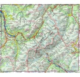 Carte IGN GR Tour du Mont Blanc 1:50 000