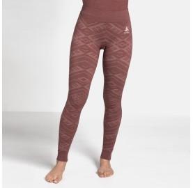 Legging ou Collant sport chaud sans pied ODLO laine merinos + polaire