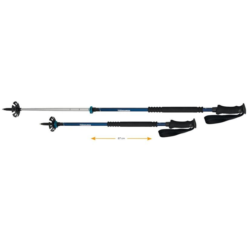 KOMPERDELL THERMO ASCENT TI 2 Bâtons ski de rando 2 brins made in europe