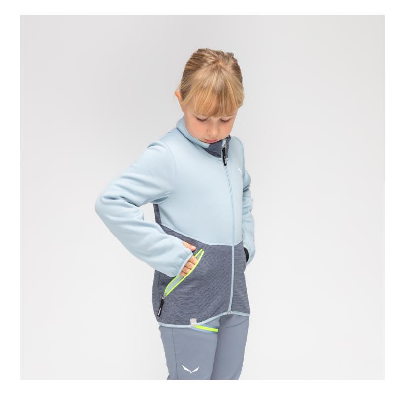 SALEWA Polaire enfant Puez Polarlite K souple chaude confort ski rando voyage ecole college