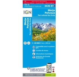 3436ET MEIJE PELVOUX IGN TOP 25 alentours de La Meije, du Pelvoux, le Parc des Ecrins