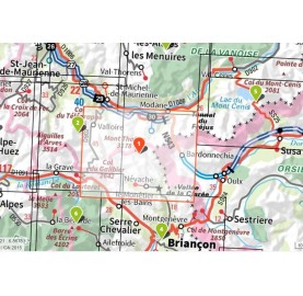 Carte IGN Top 25 - 3535OT NEVACHE MONT THABOR IGN TOP 25