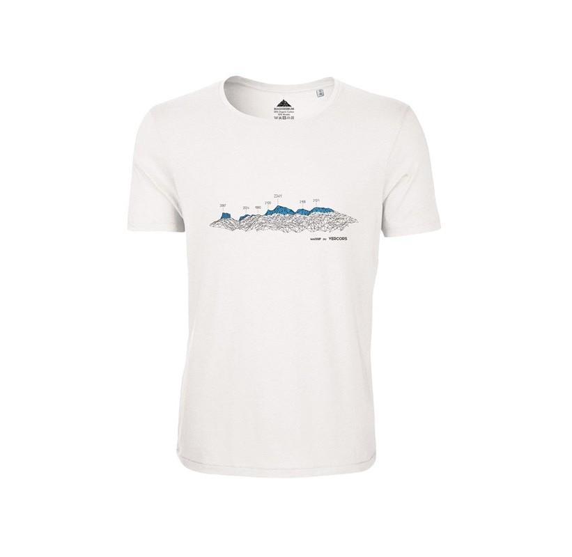 T-Shirt VERCORS Blanc homme MASHERBRUM coton modal Confort - Douceur  - anti odeur