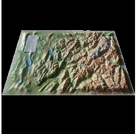 Carte en Relief Le Mont-Blanc et sa région 3DMAP