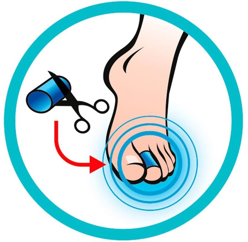 Pansement orteil gel Tube orteils en gel TOE WRAP SIDAS