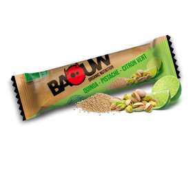 Barre salée Endurance Quinoa - Pistache - Citron Vert BAOUW
