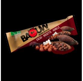Barre énergétique bio Cacao - Noisette - Vanille BaouW!