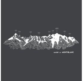 MASSIF DU MONT-BLANC T-Shirt Femme MASHERBRUM tee-shirt bio montagne doux et confort