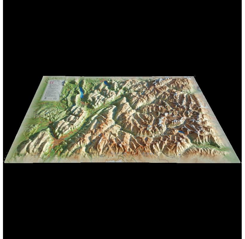 Carte en Relief La Savoie 3DMAP