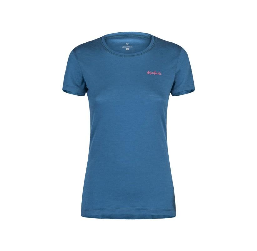 Tshirt MERINO Femme confort regulation rando marche nordique voyage MERINO LOTUS T-SHIRT WOMAN MONTURA