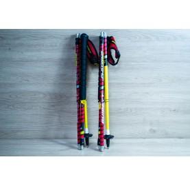 Bâton de trail carbone PLATINIUM AERO GUIDETTI made in France pliable