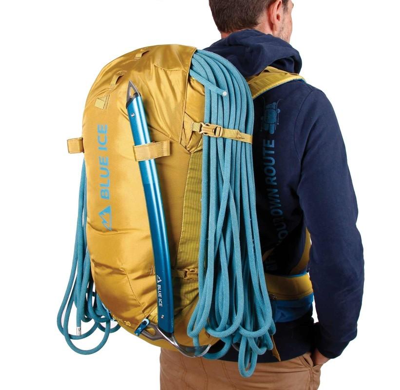 Sac à dos KUME 38 L BLUE ICE grand sac alpinisme porte corde