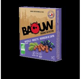 Barre énergétique bio MYRTILLE - NOISETTE - BOURGEON DE SAPIN BAOUW