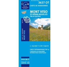 3637OT MONT VISO ST VERAN AIGUILLES PNR QUEYRAS IGN TOP 25