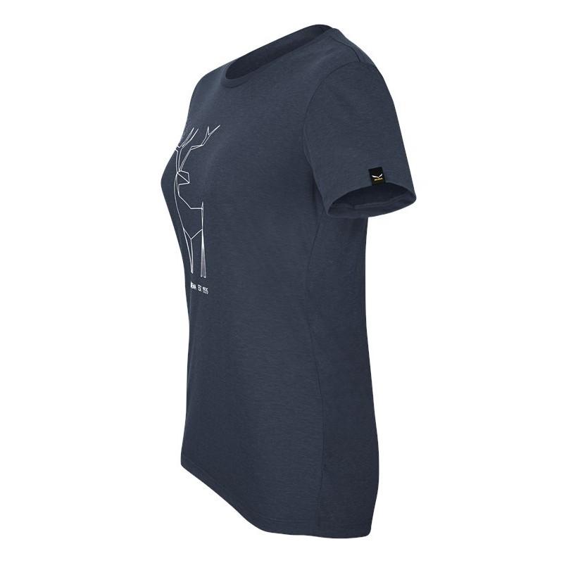 W BIG DEER S/S TEE SALEWA tee shirt femme coton et polyester rando voyage escalade