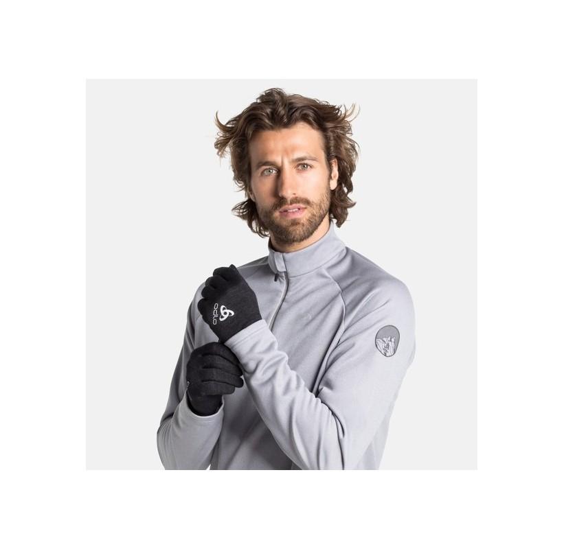 GANTS LAINE NATURAL + WARM WOOL GLOVES ODLO gants fin laine et polaire