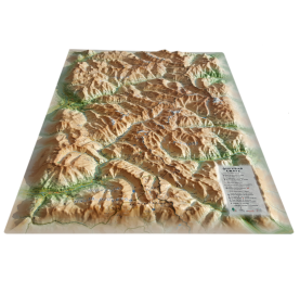 Carte en Relief QUEYRAS UBAYE 3DMAP