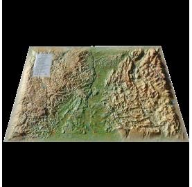 Carte en Relief DROME ARDECHE 3DMAP