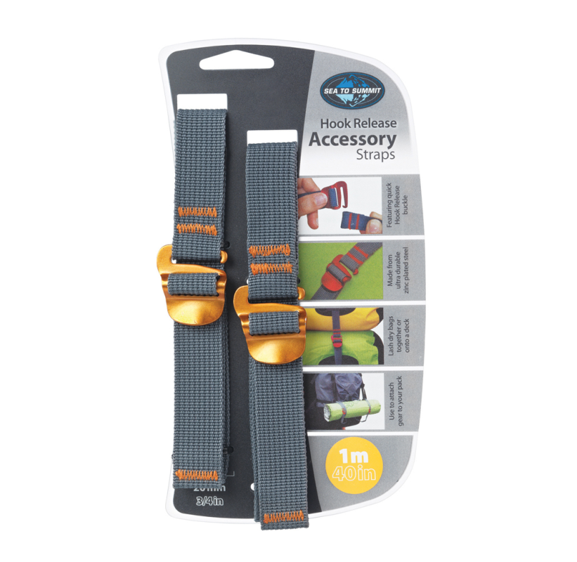SANGLE DE COMPRESSION 1m SEA TO SUMMIT HOOK RELEASE ACCESSORY STRAPS