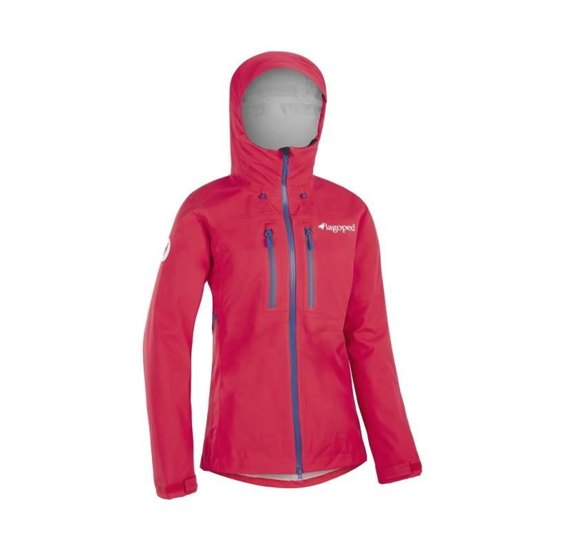 EVE2 Veste de Montagne Femme LAGOPED rouge - imperméable respirante alpinisme cascade de glace ski de randonnée