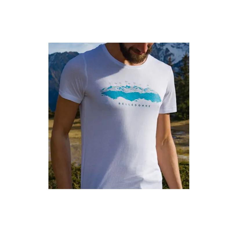 BELLEDONNE M MASHERBRUM tee-shirt homme modal et coton eco concu massif de Belledonne randonnée voyage escalade