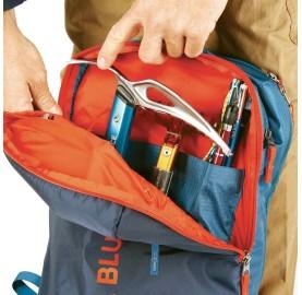 YAGI 35 L BLUE ICE sac de ski de randonnée et alpinisme poche sécurité