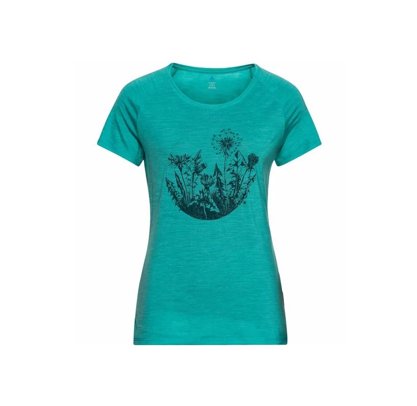 CONCORD T-SHIRT W ODLO merino et tencel douceur et régulation thermique tee shirt femme randonnée