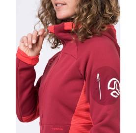 Veste polaire femme chaude souple et très respirante SANKARA Jkt W TERNUA Protecteur menton