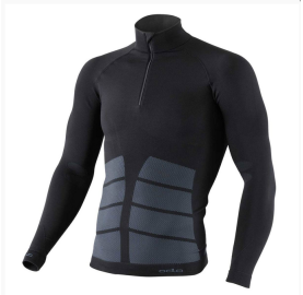 EVOLUTION WARM ZIP ODLO MAILLOT DE CORPS HOMME