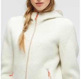 veste à capuche zippée très chaude et respirante pour femme, montagne, ville et voyage WOOLEN 2L W HDY SALEWA