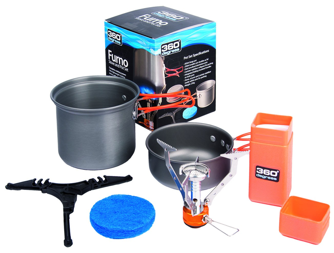 FURNO STOVE AND POT SET RECHAUD + CASSEROLE 360
